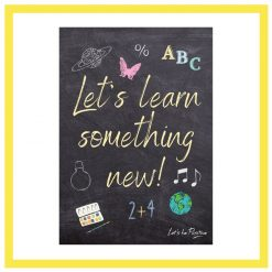 Positive school poster