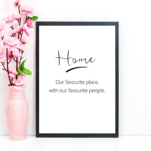 Home is our favourite place gift