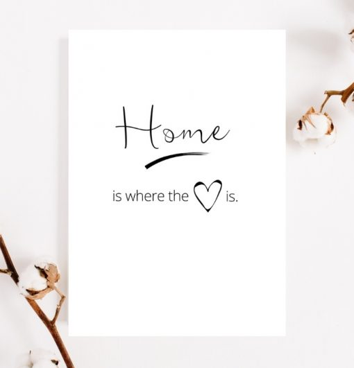 Home is where the heart is new home gift print