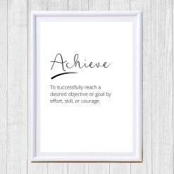 Inspirational Words Print - Achieve
