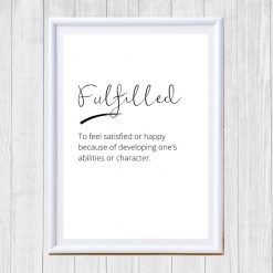 Fulfilled poster