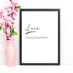 Love definition print