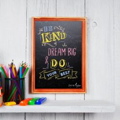 Be Kind Dream Big Kids Poster
