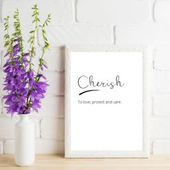 Cherish print