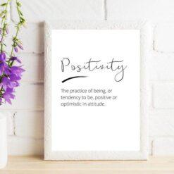 Positive Word Prints