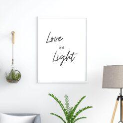 Love and light spiritual saying