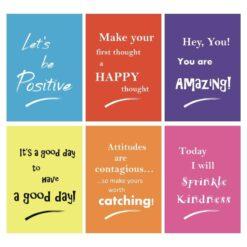 Children's bright encouraging motivating posters