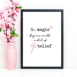 The magic begins with a bit of belief print