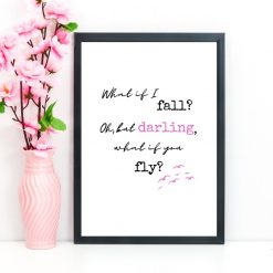 What if I fall darling what if you fly poster