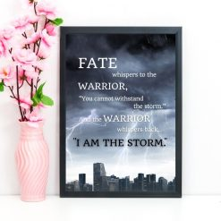 Fate whispers to the warrior quote