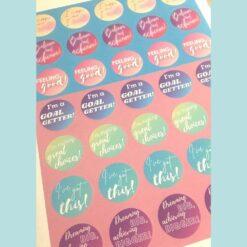 Scrapbook stickers