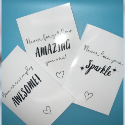 Positive greeting cards