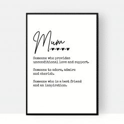 Mum Definition Print