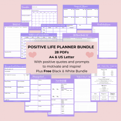 Lavender Positivity Planner